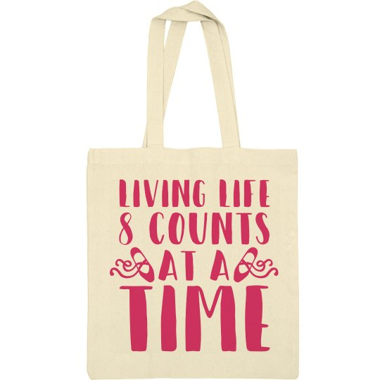 8 Count Dance Tote Bag