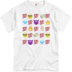 Lit 100 emoji