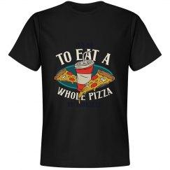 Pizza Tee Shirt Mens