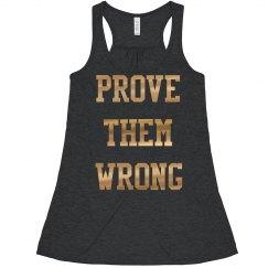 Prove them wrong, Women