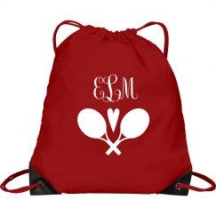 Custom Monogram Tennis Bag