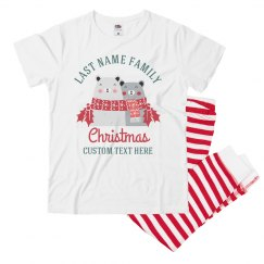 Custom Family Bear Christmas Pajamas