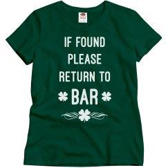 St paddys day bar shirt