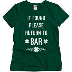 St paddys day bar shirt
