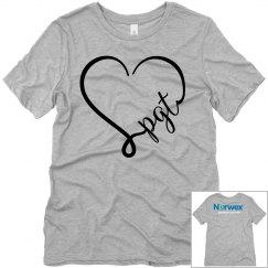 PGT Heart Gray Tshirt