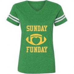 Green/yellow ladies football jersey shirt
