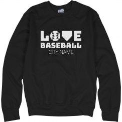 Custom City Baseball Love