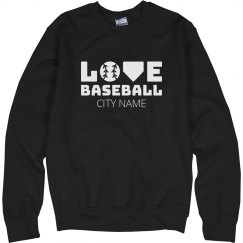 Custom City Baseball Love