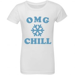 OMG Chill Snowflake Girls Tee