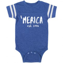 Land of the Free 'Merica Onesie