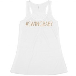 #SWINGBABY Flowy Metallic Tank