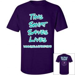 This shirt saves lives new logo