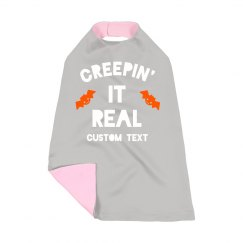 Creepin' It Real Toddler Halloween Cape