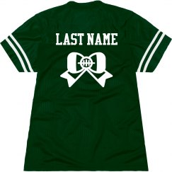 Trendy Custom Football Bow Jersey