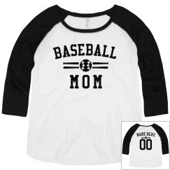 Personalized Baseball Mom Plus Raglan