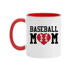 Baseball Mom Color Coffee Mug