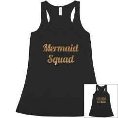 Mermaid Squad Black and Gold Tank