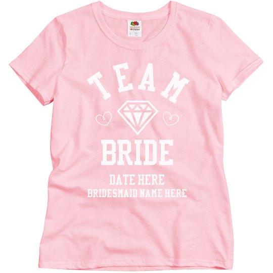 3b881b48a909a Custom Bridesmaid Team Bride