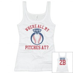 Inexpensive Baseball Bachelorette Party Team Tank Top