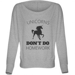 Unicorns Don't Do Homework
