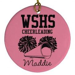 Cheerleading Ornament