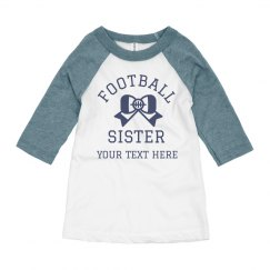 Football Sister Customizable Tee