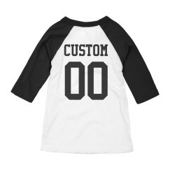 Custom Name/Number Kids Raglan