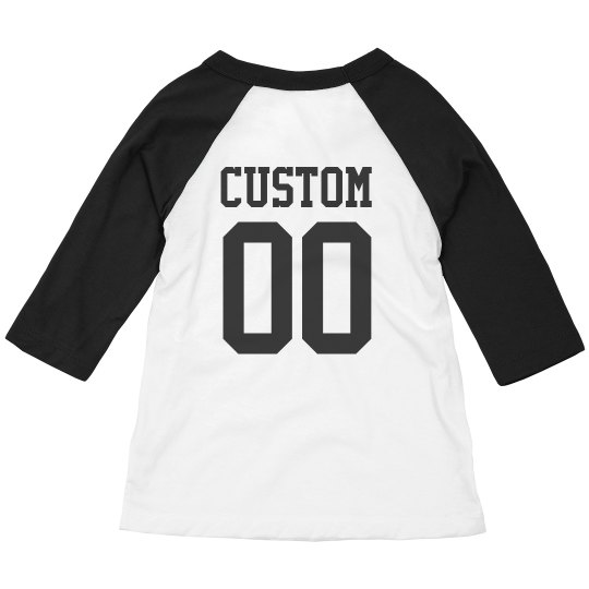 8ded17f70 Custom Sports Name Number Toddler Toddler 3 4 Sleeve Raglan T-Shirt