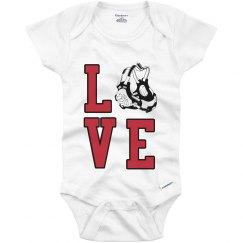 Infant wrestling love
