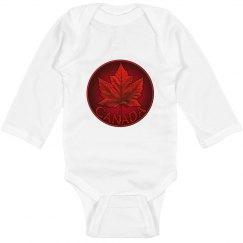 Canada Souvenir Baby Bodysuit Long Sleeve