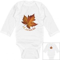 Canada Souvenir Baby Bodysuit Baby Maple Leaf Gifts