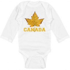 Canada Souvenir Baby Bodysuit Sporty Canada Baby Gifts