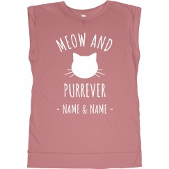 Trendy Meow And Purrever Love