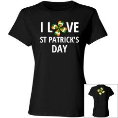 I Love St Patricks Day, Cotton Tee