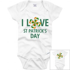 I Love St Patrick's Day, onesie