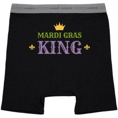 Simple Mardi Gras King Black