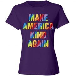 Make America Kind Again Rainbow Letters
