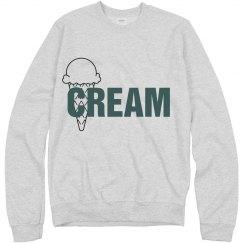 Teal & Grey Cream Jumper