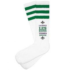 Good Times Roll Mardi Gras Socks