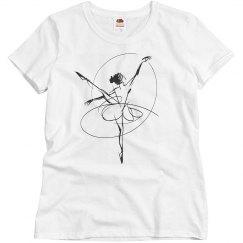 Ballet art t shirt