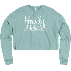 Heavily meditated crop sweatshirt