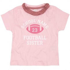 Cute Football Little Sister Custom