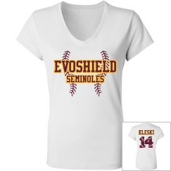 Womens Evoshield short-sleeve