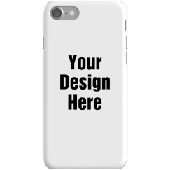 Custom iPhone 7 Slim Fit Snap Case