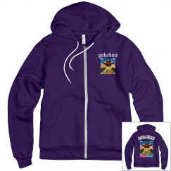 GOBABIES Unisex Canvas Fleece Full Zip Midweight Hoodie