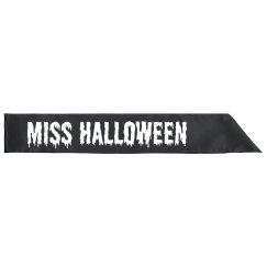 Miss Halloween Costume Sash