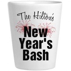 New Year's Shot Glass