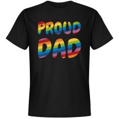 Rainbow Gay Pride Proud Dad