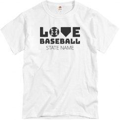 Custom States Baseball Love