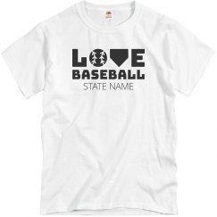 Custom States Baseball Love